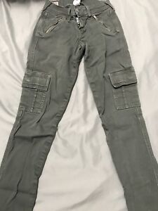 True religion olive green jeans size 24