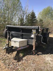 2013 triton 14' 14000lb dump trailer