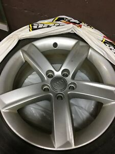 "Audi 17"" OEM Rim And Michelin X-Ice3 Winter Tires Package"