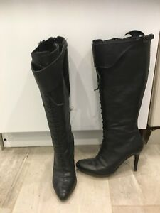 Italian made leather boots - paid $199