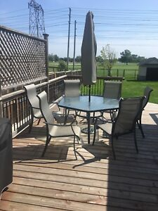 9 pc. Outdoor table set