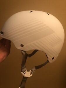 White Specialized bicycle helmet