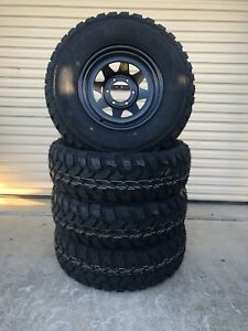 Brand new 16x8 sunnies with new 265/75R16 (32's) muddies  Caboolture Caboolture Area Preview