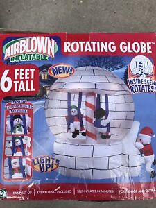 6 Feet tall Christmas Blow up globe Brand New in box
