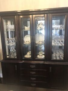 Elegant dinning room buffet & hutch