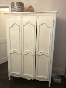 White armoire, French style.