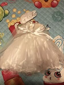 Adorable baby girl baptism dress with shoes!