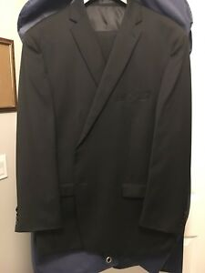 BLACK MENS FORMAL SUIT - SIZE 52R