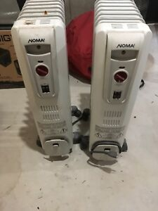 Two Noma oil filled heaters