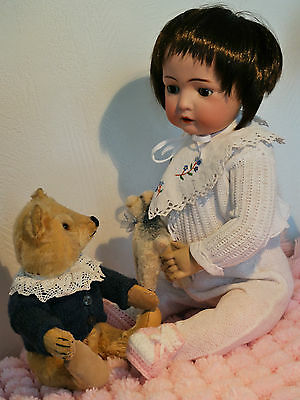 Alte antike Puppe Bruno Schmidt | Porzellankopfpuppe | Charakterpuppe