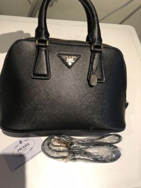 0cda2702441a5f ... amazon prada mini tote black nero bag womens bags gumtree australia  b5b77 16eba