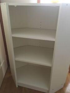 Corner Bookshelf TV Stand