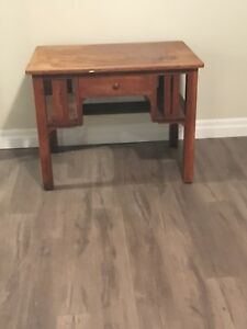 Antique oak writing table/desk