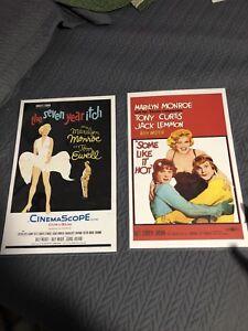 2 Marilyn Monroe movie poster prints.