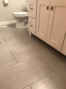 12x24 Grey Porcelain Tiles