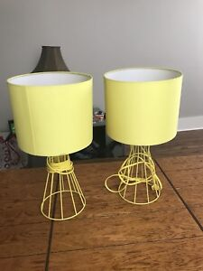 Two yellow lamps