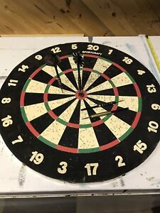 Large 18x18 inches double sided dart board obo