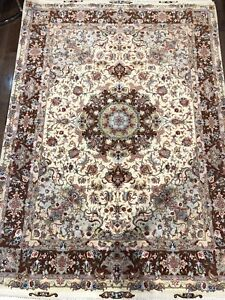 Persian hand-knotted Tabriz rug