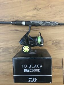 Daiwa TD Black 2500 spin Combo Samaki like New | Fishing