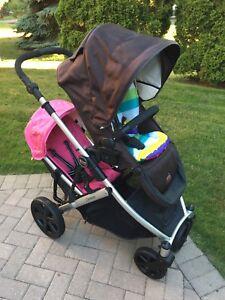 EUC double Britax b ready stroller