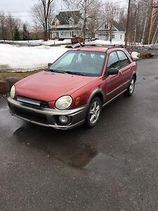 Subaru impreza manuelle 2002
