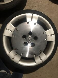 18x8.5 Lexus wheels with 5x114.3 to 5x100 adaptors