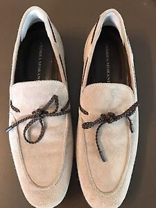 NEW Mens suede tan loafers