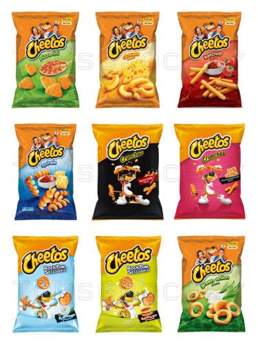 CHEETOS Snack Chips Mix Pizza, Cheese, Hamburger, Ketchup, Chili Flavors