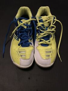 Yonex badminton shoes (blue/yellow) - men's size 8