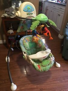 Rainforest mobile baby swing