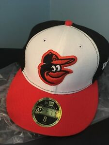 NEVER WORN Baltimore Orioles New Era hat. Fitted sz. 8