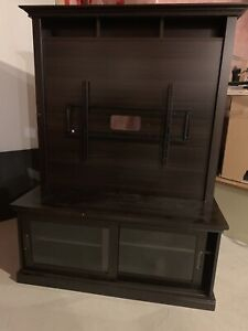 tv stand with built in mount