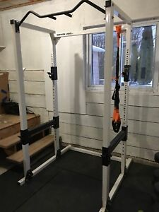 Gym Equipment - dumbbells, plates and power rack