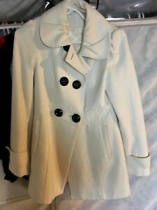 Ladies winter white dress coat Size M