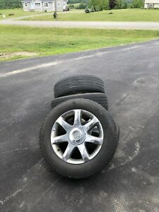 Buick Enclave rims and tored