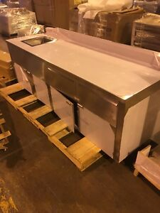 Stainless steel sinks and prep tables