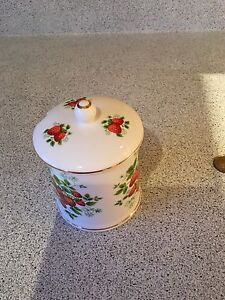 Bone China sugar/jam container. Made in England