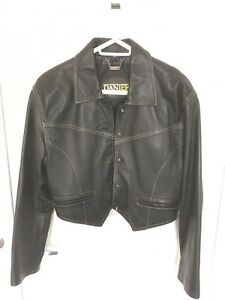Daniel black leather jacket small