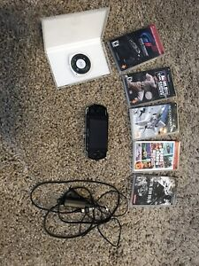 PSP with 6 Games and Brand New Battery