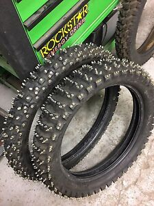 Ice tires for motorcycles