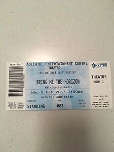 Bring Me The Horizon Ticket Henley Beach Charles Sturt Area Preview
