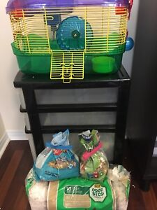 Free hamster cage/food