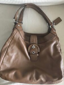 Coach 3 Compartment Leather Purse Handbag