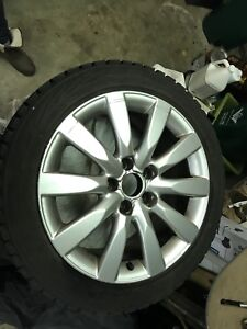 "17"" Bridgestone Blizzak winter tires on rims"