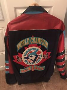 Vintage Toronto Blue Jays Leather Jacket Memorabilia