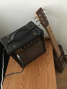 Vintage Amp And Cigar Box Guitar