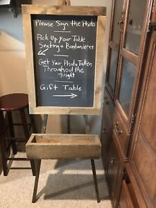 Wooden Chalk Board Easel with a chalk holder