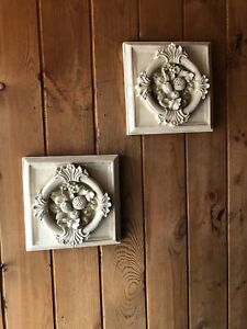 Pair of square wall placques