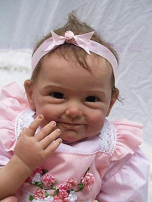 "22"" Handmade Lifelike Baby Girl Doll Silicone Vinyl Reborn Baby Newborn on Rummage"