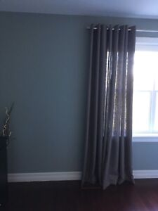 90 inch contemporary grey grommet panels